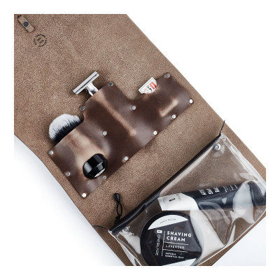 OneBlade Leather Dopp kit in Brown